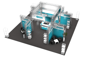 Kombistand-144 Messestand All-Inclusive Rendering