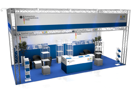 Kombistand-36 Messestand All-Inclusive Rendering