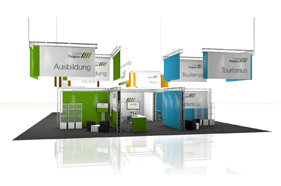 Kombistand-500 Messestand All-Inclusive Rendering