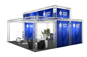 Kombistand-64 Messestand All-Inclusive Rendering